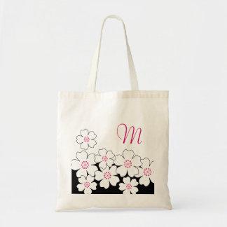 För blommarbrudtärna för Monogram körsbärsröda tot Tygkasse