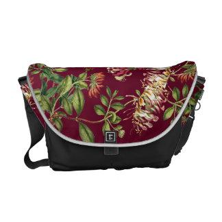 För blommaRickshaw för kaprifol blom- messenger Kurir Väska
