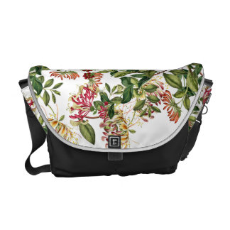 För blommaRickshaw för kaprifol blom- messenger Messenger Bag