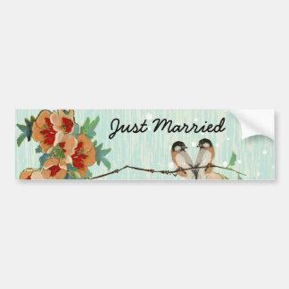 För blommarkärlek för vintage körsbärsröd Mint för Bildekal