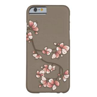 För blommarSakura för rosa persika körsbärsrött Barely There iPhone 6 Fodral