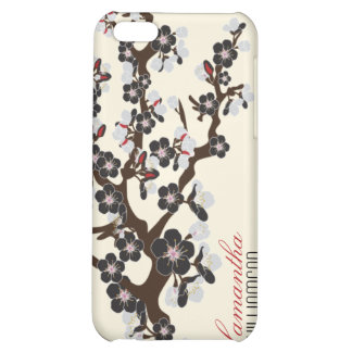 för blommarSpeck för iPhone 4 körsbärsrött fodral