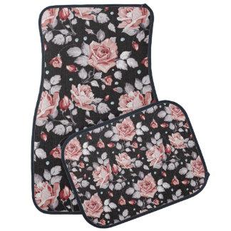 För blommönsterbil för vintage rosa Floor mat Bilmatta