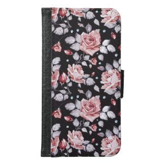 För blommönstergalax S6 för vintage rosa fodral