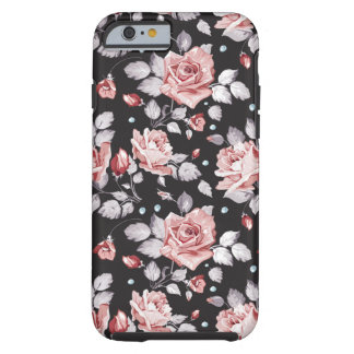 För blommönsteriPhone 6 för vintage rosa fodral Tough iPhone 6 Skal