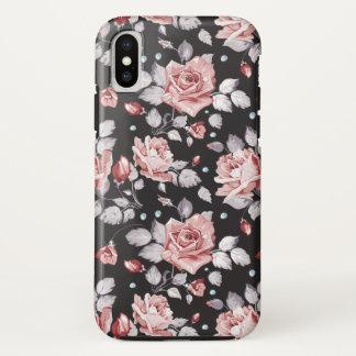 För blommönsteriPhone X för vintage rosa fodral