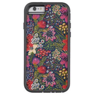 För blommönstertyg för vintage ljust fodral för tough xtreme iPhone 6 skal