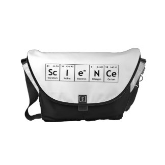 För bordinslag för vetenskap periodisk kemi för messenger bag