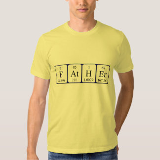 För bordnamn för far periodisk skjorta t-shirts