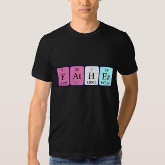 För bordnamn för far periodisk skjorta t shirts