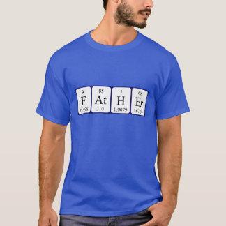 För bordnamn för far periodisk skjorta tee shirts