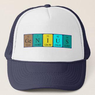 För bordnamn för snille periodisk hatt truckerkeps