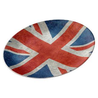 För brittisk facklig tallrikar för stil jackflagga