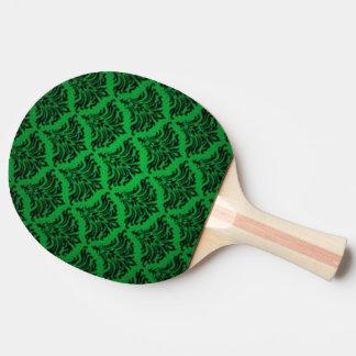 För Brocadekrusidull för vintage damastast grönt Pingisracket
