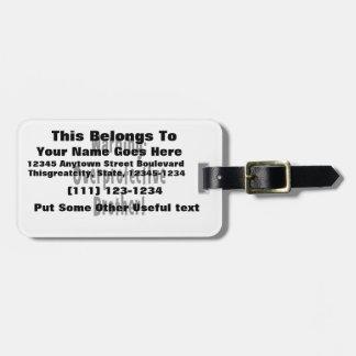 för brodersvart för varning overprotective text bagagebricka