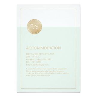 För bröllopboende för färg redigerbart modernt 11,4 x 15,9 cm inbjudningskort