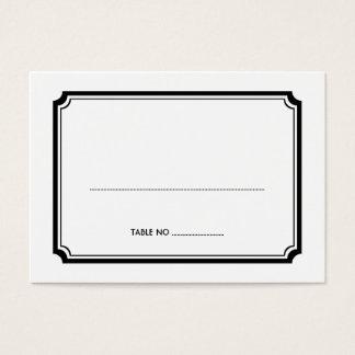 För bröllopgäst för svart art déco retro kort för