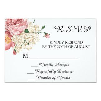 För bröllopinbjudan för vintage botanisk OSA 8,9 X 12,7 Cm Inbjudningskort