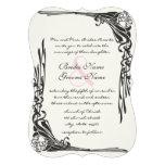 För bröllopinbjudan för vintage rosa guld- art déc anpassade inbjudningskort