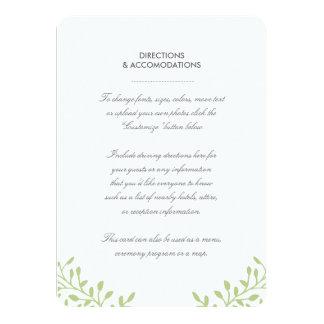 För bröllopmellanlägg för hemlighet trädgårds- 11,4 x 15,9 cm inbjudningskort