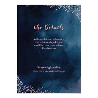 För bröllopmellanlägg för marin rodna blom- 11,4 x 15,9 cm inbjudningskort