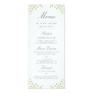 För bröllopmiddag för hemlighet trädgårds- meny - 10,2 x 23,5 cm inbjudningskort