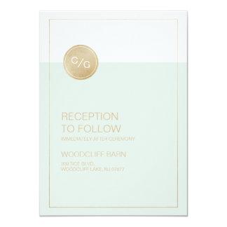 För bröllopmottagande för färg redigerbart modernt 11,4 x 15,9 cm inbjudningskort