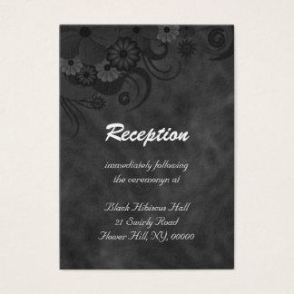 För bröllopmottagande för hibiskus svart blom- visitkort