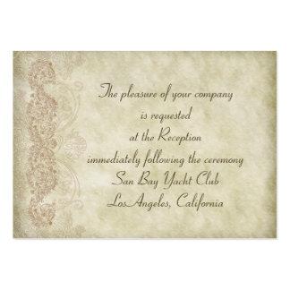 För bröllopmottagande för vintage damastast kort set av breda visitkort