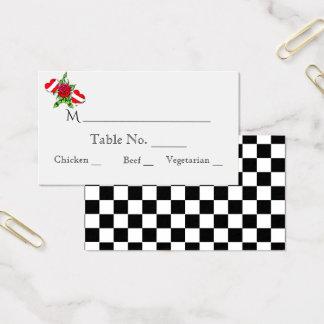 För bröllopställe för Rockabilly hjärtor rosa kort