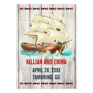 För bröllopställe för vintage nautiska kort visit kort