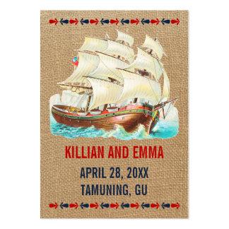 För bröllopställe för vintage nautiska kort visitkort mallar