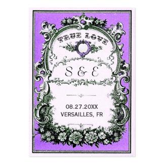 För bröllopställe för vintage trädgårds- kort