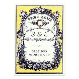 För bröllopställe för vintage trädgårds- kort visit kort