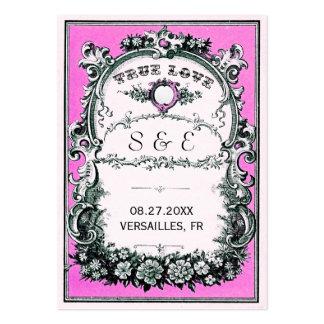 För bröllopställe för vintage trädgårds- kort visitkort