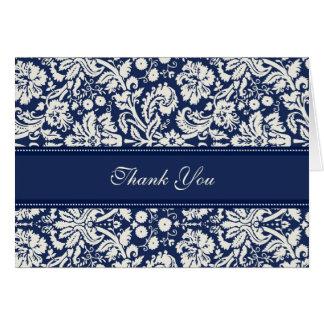För brölloptack för blått kräm- damastast kort