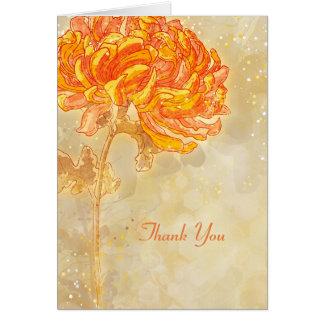 För brölloptack för Chrysanthemum orange blom- OBS Kort