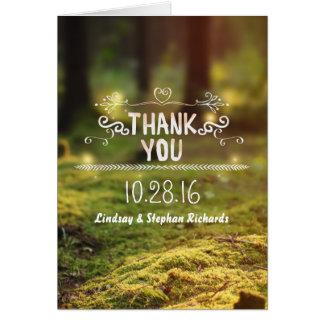För brölloptack för förtrollad skogsmark lantliga OBS kort