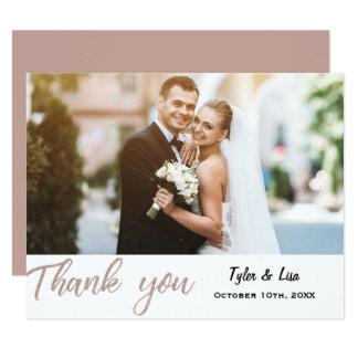 För brölloptack för rosa guld- glitter modernt 10,8 x 14 cm inbjudningskort