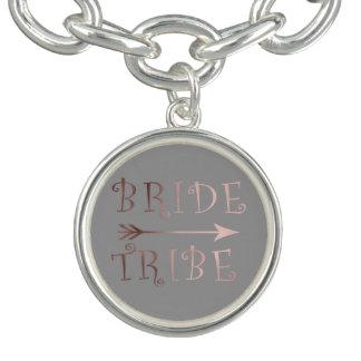 för brudstam för elegant faux rosa guld- design berlockarmband