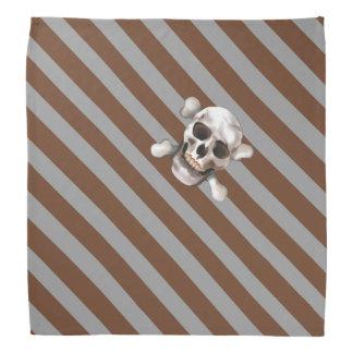 """För brunt""""piratkopierar n-grått skallen & kerchiefs"""
