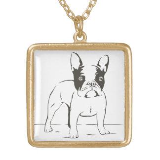 För bulldoggvalp för kärlek franskt halsband för