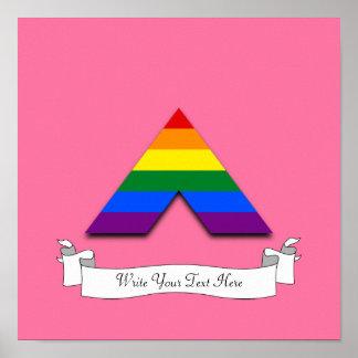 För bundsförvantpyramid för LGBT rakt symbol Poster