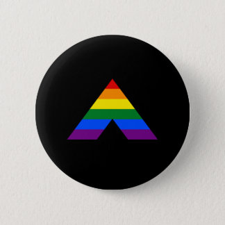 För bundsförvantpyramid för LGBT rakt symbol Standard Knapp Rund 5.7 Cm