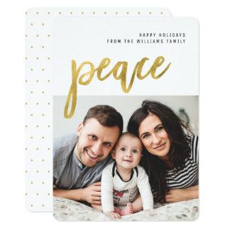 För Calligraphyfoto för fred | guld- kort för 12,7 X 17,8 Cm Inbjudningskort