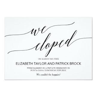För Calligraphyrymning för att gifta sig för 12,7 X 17,8 Cm Inbjudningskort