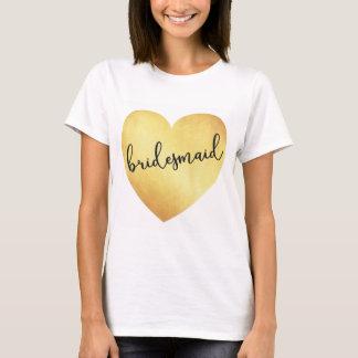 För calligraphytshirten för brudtärnan tshirts