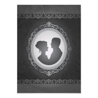 För Cameobröllop för Victorian gotiska 11,4 X 15,9 Cm Inbjudningskort