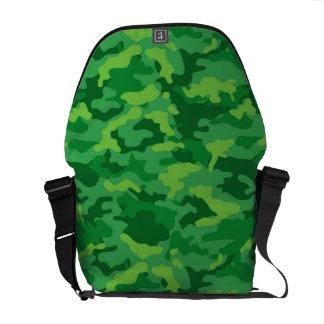 För Camo för grön armé militärt tyg för mönster Kurir Väska