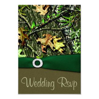 För Camo för jägare gröna jaga kort bröllop OSA 8,9 X 12,7 Cm Inbjudningskort